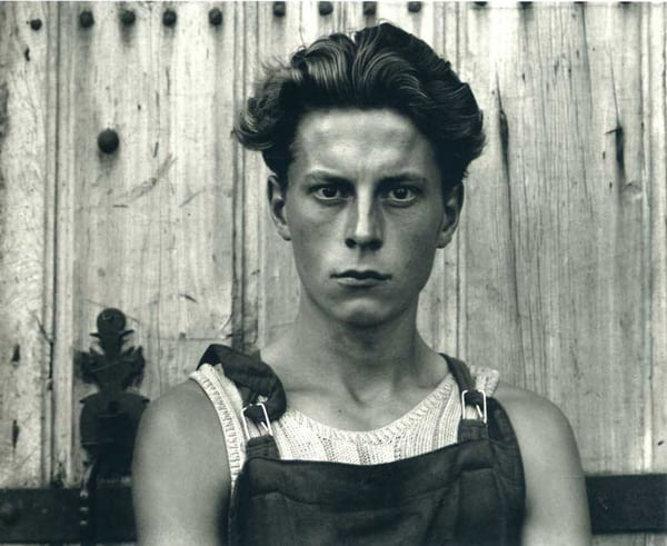 Paul Strand, Young Boy, Gondeville, Charente, France, 1951