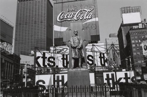 Lee Friedlander, Father Duffy. Times Square, New York City, 1974