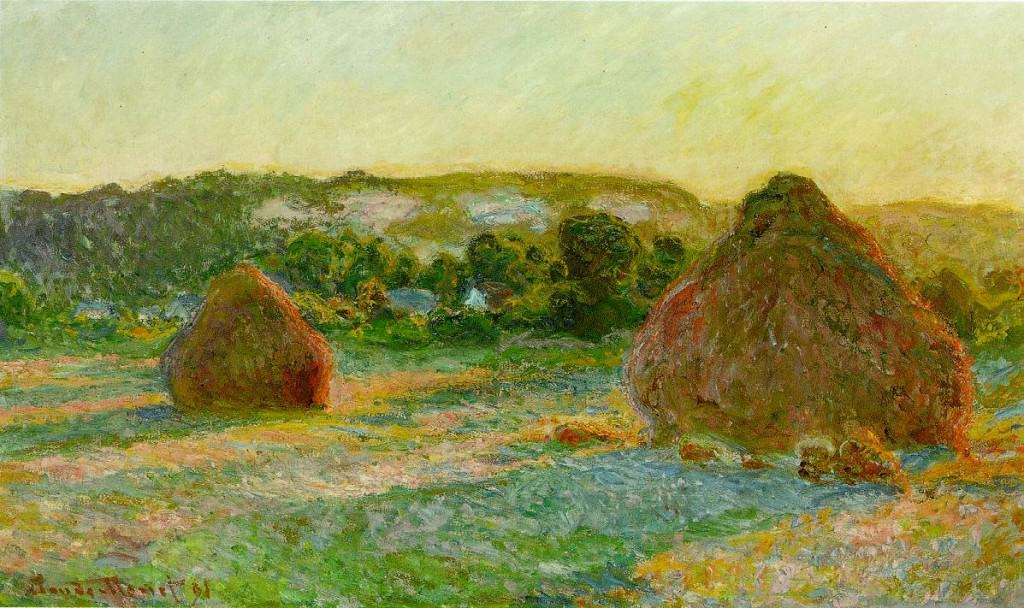 Claude Monet, Stacks of Wheat (End of Summer), 1890/91